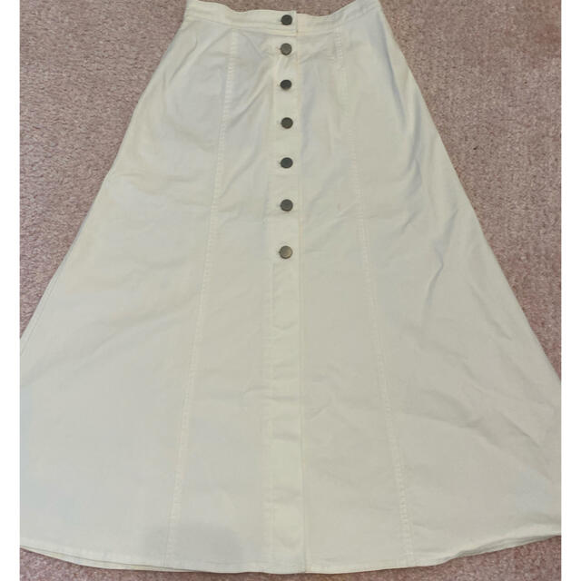 UNIQLO(ユニクロ)の秋冬 ユニクロ ロングスカート デニムスカート 白 レディースのスカート(ロングスカート)の商品写真