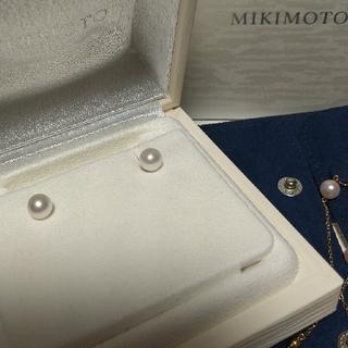MIKIMOTO - MIKIMOTOミキモトパールピアスWGあこや真珠タサキTASAKIティファニー