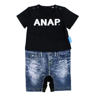 アナップキッズ(ANAP Kids)のデニムセパレート風ロンパース(ロンパース)