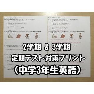 英語教材·定期テスト対策プリント (中学3年生) 2学期 & 3学期