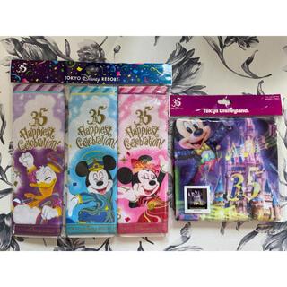 Disney - ☆新品未使用☆ ディズニー 35周年 ミニタオル3枚セット・ウォッシュタオル