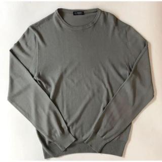 ビームス(BEAMS)のBEAMS F クルーネックコットンニット46グレー(ニット/セーター)