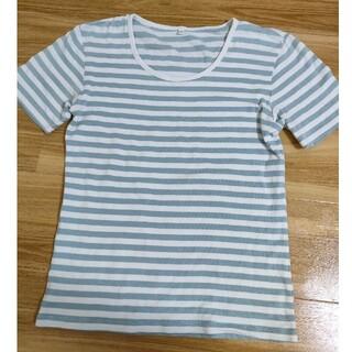 ムジルシリョウヒン(MUJI (無印良品))の無印良品Mサイズ ボーダー柄半袖(Tシャツ(半袖/袖なし))