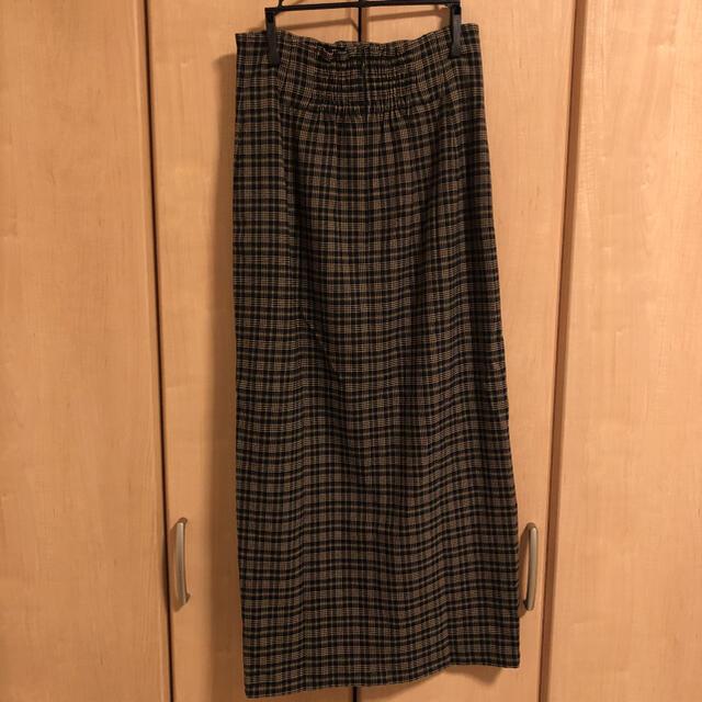 snidel(スナイデル)の美品 SNIDEL フロントボタンタイトロングスカート チェック 0サイズ レディースのスカート(ロングスカート)の商品写真
