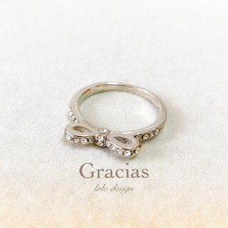 92特別価格☆高品質 指輪☆13号 リボン シルバー リング 指輪