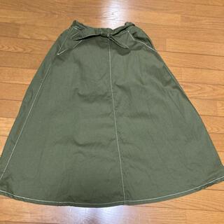 サマンサモスモス(SM2)のSM2 エヘカソポ カーキロングスカート(ロングスカート)