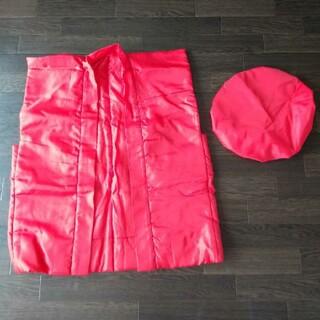 新品 ちゃんちゃんこ 還暦 祝い 還暦祝い 赤 頭巾  2点セット 赤色 記念(衣装一式)
