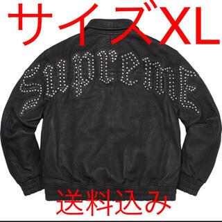 Supreme - Pebbled Leather Varsity Jacket supreme