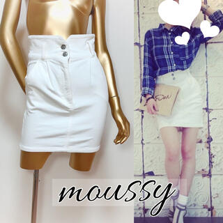 moussy - moussy コーデュロイ ハイウエスト スカート*スライ エモダ ムルーア