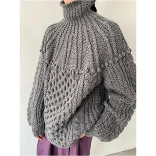 CLANE ARCH CABLE HAND KNIT アーチケーブルハンドニット