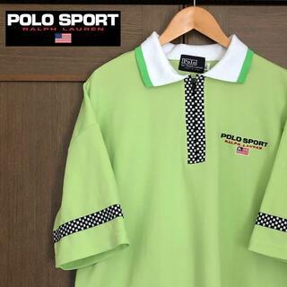 ラルフローレン(Ralph Lauren)の90s POLO SPORT ネオンカラー ポロシャツ XL(ポロシャツ)