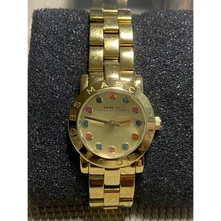 マークバイマークジェイコブス(MARC BY MARC JACOBS)のMarc by Marc Jacobs  イエローゴールドカラーストーン腕時計(腕時計)