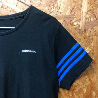 adidas - adidas 青 ライン black