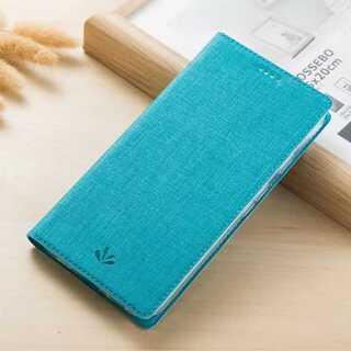 手帳型 ブルー エクスペリアカバー Xperia XZ2 PUレザー tpu