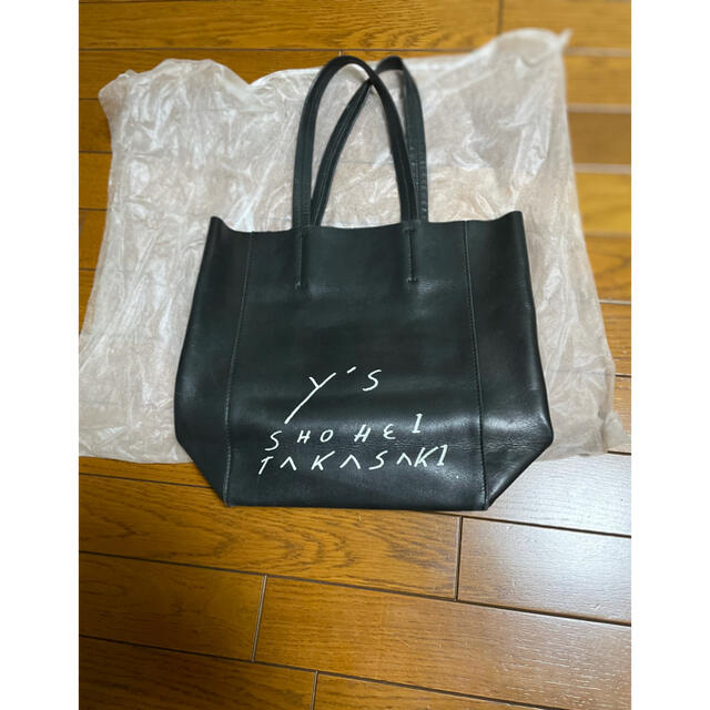 Yohji Yamamoto(ヨウジヤマモト)のyohjiyamamoto SHOHEITAKASAKI レザートートバック メンズのバッグ(トートバッグ)の商品写真