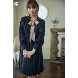 Tie-Neck Vintage Satin Dress