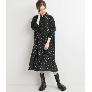 イエナ(IENA)の新品タグ付きドットシャツミニワンピース36(ミニワンピース)