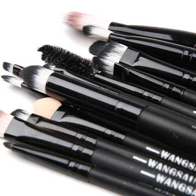 化粧筆 メイク ブラック×ブラック 20本セット 【241】 コスメ/美容のベースメイク/化粧品(その他)の商品写真