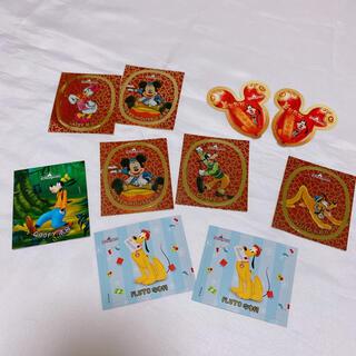 ミッキーマウス(ミッキーマウス)の香港ディズニーランド ステッカー シール ミッキー ダッフィー(キャラクターグッズ)
