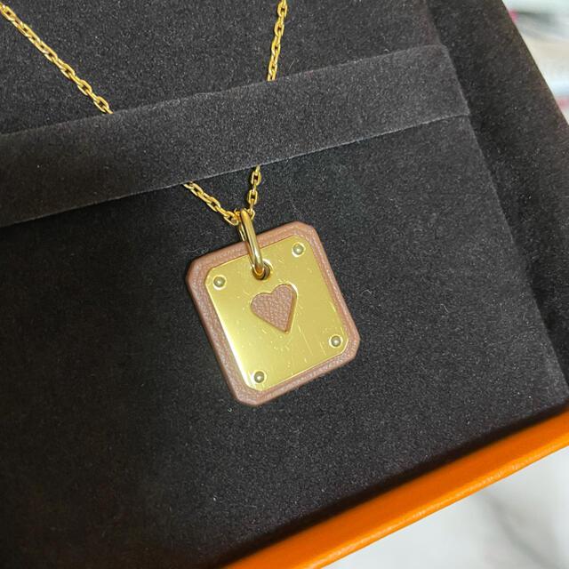 Hermes(エルメス)のHERMESエルメス♡ペンダント♡アス・ドゥ・クールPM♡ゴールド レディースのアクセサリー(ネックレス)の商品写真