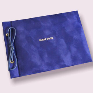 ゲストブック(芳名帳) 高級感のあるシンプルなゲストブック(ウェルカムボード)