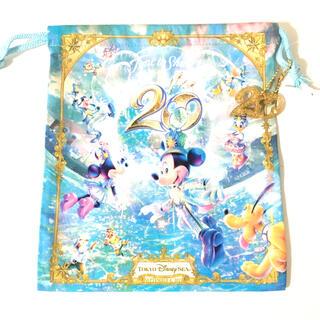 Disney - ディズニーシー20周年 きんちゃく 巾着 ディズニー タイムトゥシャイン