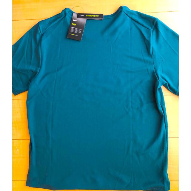 NIKE(ナイキ)の【新品】NIKE グリーン Tシャツ❣️ナイキ ランニング シャツ Lサイズ❣️ メンズのトップス(Tシャツ/カットソー(半袖/袖なし))の商品写真