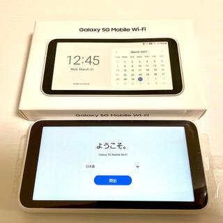 SAMSUNG - 【美品】au Galaxy 5G Mobile Wi-Fi SCR01