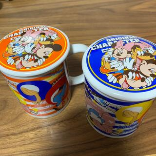 Disney - Disney蓋付きマグカップ ミッキー・ミニーペアカップ