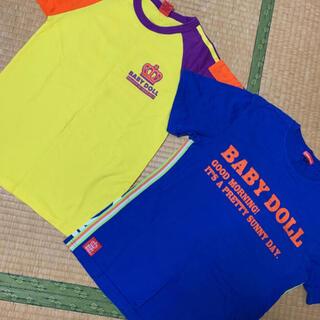 ベビードール(BABYDOLL)の新品❤️ベビードールTシャツセットM&Sサイズ(Tシャツ/カットソー)
