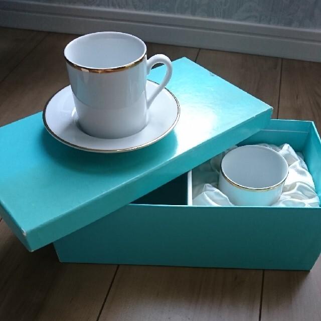 Tiffany & Co.(ティファニー)のティファニー  コーヒーカップ  ペア インテリア/住まい/日用品のキッチン/食器(グラス/カップ)の商品写真