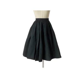 miumiu - miumiu ふんわり可愛いフォルムキープのブラックフレアスカート