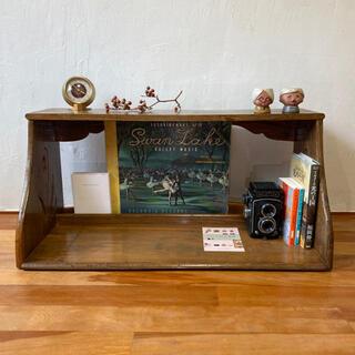 古道具 本棚 レコードラック