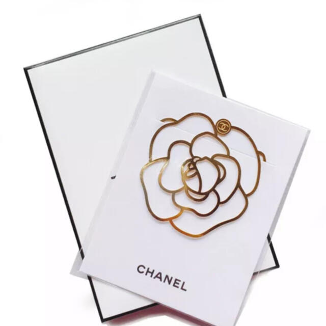 CHANEL(シャネル)のCHANEL ブックマーク カメリア ハンドメイドの文具/ステーショナリー(しおり/ステッカー)の商品写真