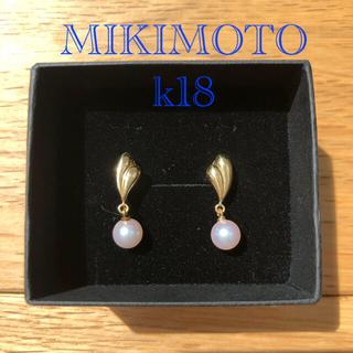 MIKIMOTO - MIKIMOTO  イヤリング ぶら下がり スウィングタイプ k18