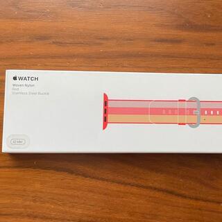 Apple Watch - Apple Watch 42mm 用交換バンド レッドウーブンナイロン