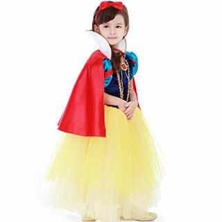 白雪姫 ドレス キッズ コスプレ 女の子 ワンピース ハロウィン プリンセス(衣装一式)