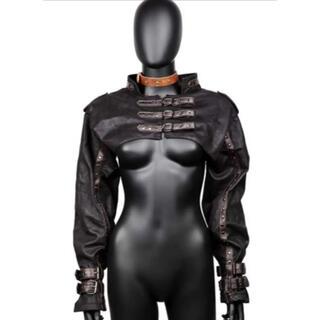Fスチームパンクゴシック原宿ビンテージシュラグジャケット(衣装一式)