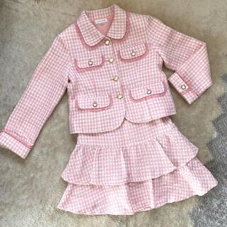 エニィファム(anyFAM)のanyfam 女の子 フォーマル スーツ 130センチ(ドレス/フォーマル)