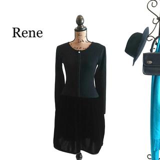 ルネ(René)のRene ルネ ワンピース ブラック(ひざ丈ワンピース)