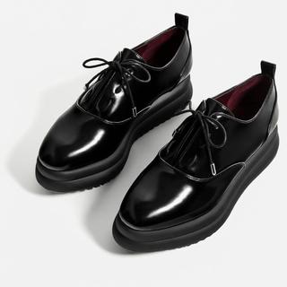 ザラ(ZARA)のZARA 今期ブルーチャー 36(ローファー/革靴)