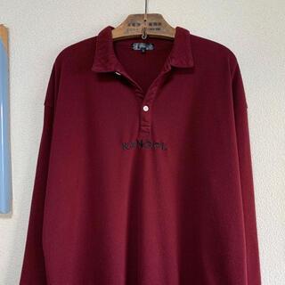 KANGOL - KANGOL 刺繍ロゴ ワンポイント デカロゴ ポロシャツ スキッパーシャツ