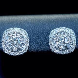 デビアス(DE BEERS)のデビアスダイヤ 1.2カラット 華麗なピアス K18WG 鑑別付(ピアス)