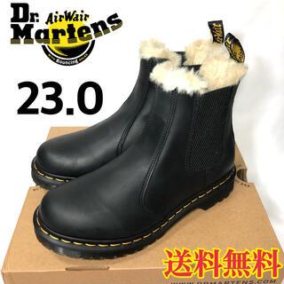 ドクターマーチン(Dr.Martens)の【新品】ドクターマーチン サイドゴア ファー ボア ブーツ ブラック 23.0(ブーツ)