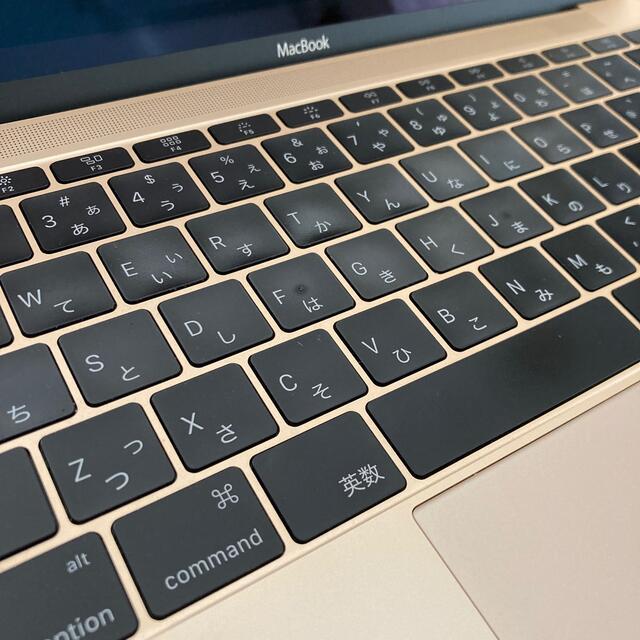 Apple(アップル)のMacBook 12インチ 2015 256GB ゴールド スマホ/家電/カメラのPC/タブレット(ノートPC)の商品写真
