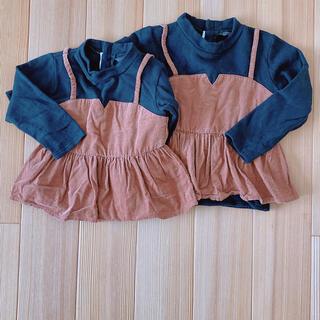フタフタ(futafuta)の長袖カットソー 110センチ 姉妹お揃い 姉妹コーデ(Tシャツ/カットソー)