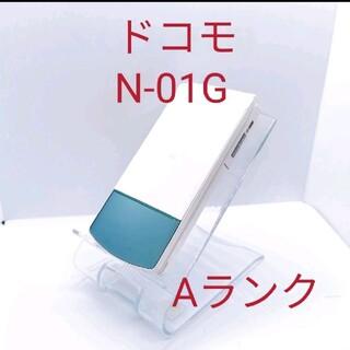 エヌティティドコモ(NTTdocomo)の14 docomo ドコモ N-01G  ホワイト ガラケー 携帯 電話(携帯電話本体)