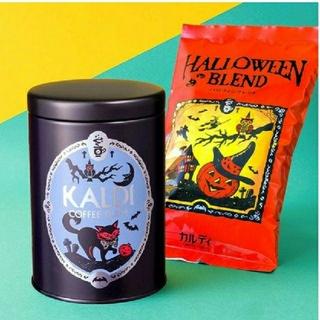カルディ(KALDI)のカルディ ハロウィンブレンド(中挽)&キャニスター缶セット2021(コーヒー)