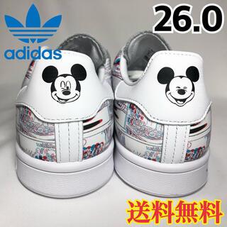 アディダス(adidas)の【新品】アディダス スタンスミス スニーカー 3D ミッキーマウス 26.0(スニーカー)