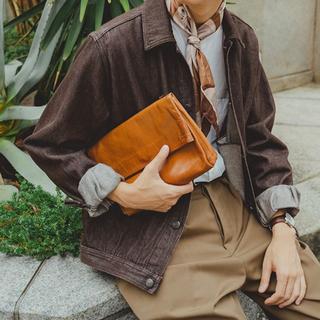 【希少サイズ】オーラリー デニムジャケット ブラウン 5(Gジャン/デニムジャケット)
